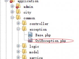 ThinkPHP5 异常接管